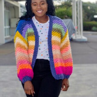 Happy Monday!!! Wishing you a colourful week ahead. Wearing this beautiful and colourful knit from @mini.flock